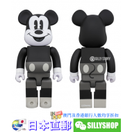 BE@RBRICK MICKEY MOUSE B&W VER. 400%
