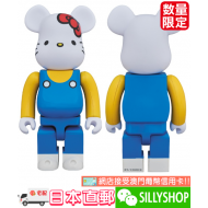 BE@RBRICK 400% HELLO KITTY (BLUE VER.)