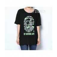 A BATHING APE 1ST CAMO NEON COLOR BY BATHING APE BIG TEE