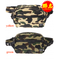 A BATHING APE x PORTER 1ST CAMO WAIST BAG