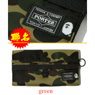 A BATHING APE x PORTER 1ST CAMO LONG WALLET