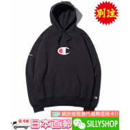 atmos Lab x Champion P/O HOODED SWEATSHIRT (BLK)
