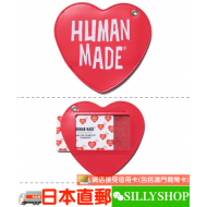 HUMAN MADE HEART LEATHER PASS CASE