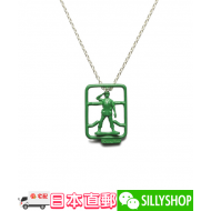 JAM HOME MADE TOY STORY GREEN ARMY MEN NECKLACE
