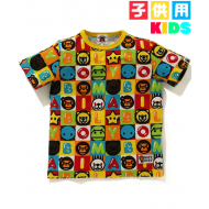 A BATHING APE MILO FRIENDS BLOCK T-SHIRT