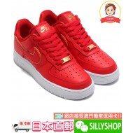 """NIKE WMNS AIR FORCE 1 '07 ESS """"RED GOLD SWOOSH"""""""