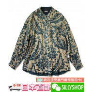 KAPITAL IDG DAMASK PATTERN pt COLLAR SHIRT