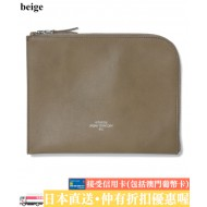 WTAPS CREAM L CASE SYNTHETIC LEATHER