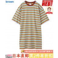 X-girl STRIPED S/S T-SHIRT DRESS